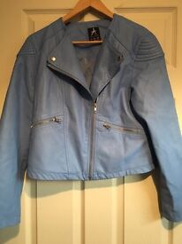 **Ladies faux leather jacket **