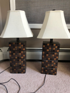 $40 for two lamps. Great condition. Work perfectly.