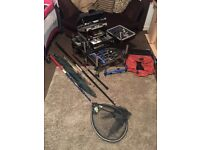 Immaculate Team Milo Pro 1000 Match Fishing Seat Box & All Tackle Shown Complete Set Up