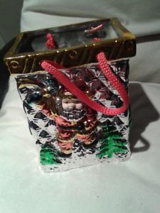 Ceramic Christmas Bag Decoration