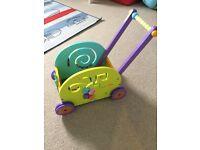 Boikido Push and Pull Rabbit Wagon