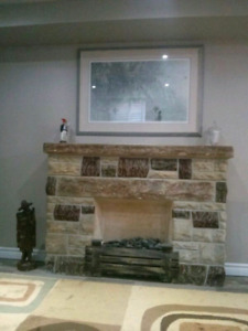 Vintage 1950s Faux Fireplace