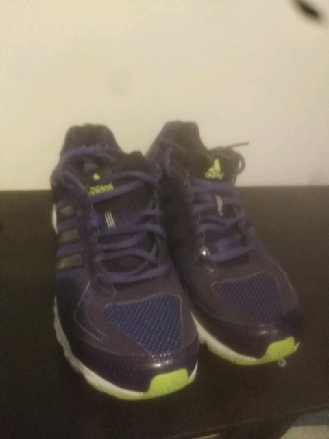 aed317f6c5d7 ADIDAS purple gym trainers womens size 8.5