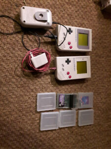 Original Nintendo game boy grey system + games collection