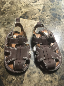 Size 3 brown baby sandals