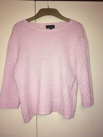 Topshop Baby Pink Shell Jumper - Size 10