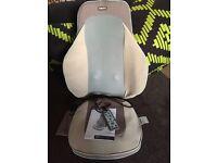 Shiatsu massage seat with heat and remote control