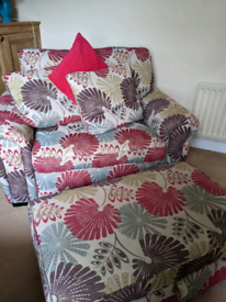 Large Cuddle Chair with footstool