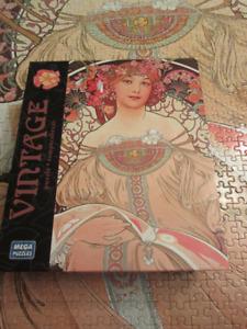 Mega Puzzles Vintage 1000 Piece Jigsaw Puzzle: Rompecabezas