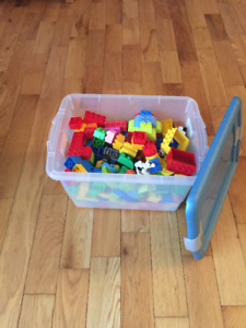 Tote of Lego Duplo. Tote Included. $40.00 or OBO