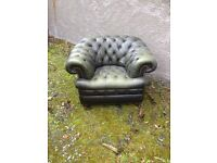 Leather Chesterfield Armchair