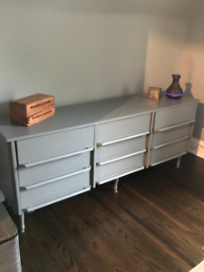 9 drawer refinished dresser