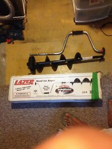 Lazer ice auger. 6inch manual brand new.