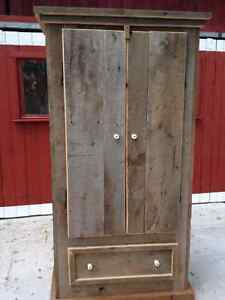 Rustic River Road Barn Board Armoire West Island Greater Montréal image 1