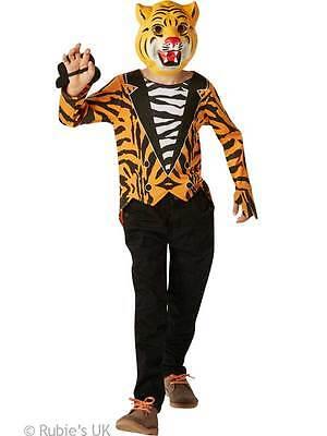 Kids Child Mr Tiger Kids Fancy Dress Up Jungle Zoo Animal Costume Book Week New (Jungle Dress Up Costumes)