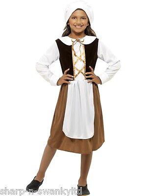 Mädchen Poor Tudor Dienstmädchen Spülküche Historisch Büchertag Kostüm - Tudor Dienstmädchen Kostüm