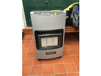 Stanley gas heater with nearly full cylinder