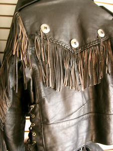 Classic fringed bikers jacket  recycledgear.ca Kawartha Lakes Peterborough Area image 9