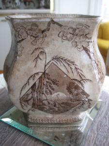 RARE Old ANTIQUE [1800's] IVORYWARE SEMI-PORCELAIN BISCUIT JAR