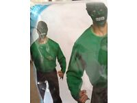 Men's hulk fancy dress costume