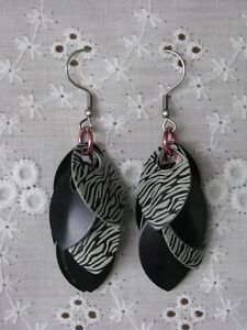 Handcrafted Chainmail and Scalemail Earrings