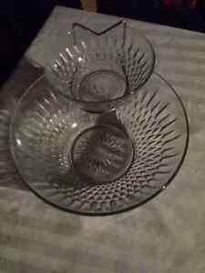 Vintage Glass Chip N' Dip Set