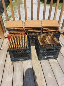 Indoor outdoor decking tiles