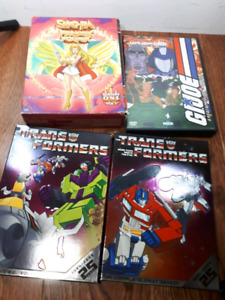 Transformers, GI Joe, She-Ra DVDs