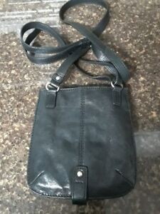 BANANA REPUBLIC Black Leather Crossbody Purse