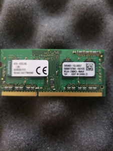 Kingston 4gb ddr3 1.35v laptop memory