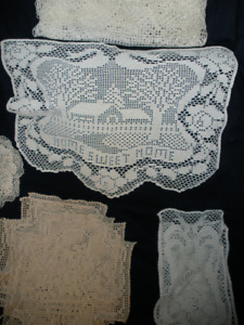 CROCHET - - Table Cloth, & Smaller Pieces - - $125.00 * * *