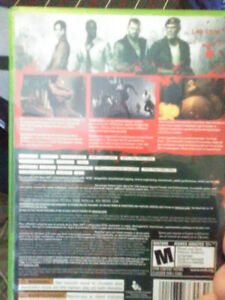 Xbox 360 game ,called left for dead brand new play twice