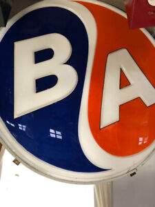 BA Plastic Gas Station Sign