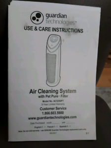 GUARDIAN AIR CLEANING SYSTEM