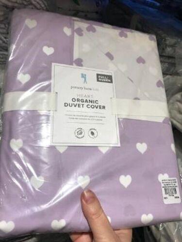 Pottery Barn Kids Heart Duvet Cover Lavender Queen Purple No Shams