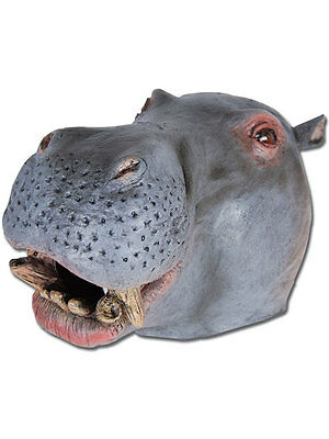 Hippo African Wild Animal Zoo Fancy Dress Latex Rubber Mask New Hippopotamus - Hippopotamus Costume