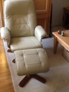 reclining Swivel chair with matching stool