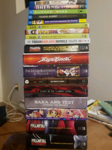 Anime dvds and blurays