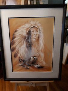Indian Chief Spirit Painting
