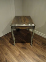 Distressed grey end table