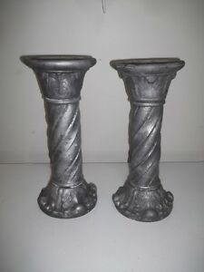 Gray Ceramic Pillars