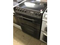 Dark brown Creda Electric Cooker 60cm Wide,