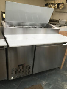 **BRAND NEW** PIZZA TABLES- PANS INCLUDED