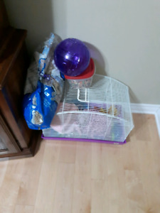 Hampster cage with accessories