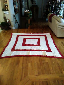 7 Ft Sq Hand made Crochet Blanket