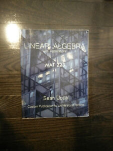 Linear Algebra with Applications MAT233, Sean Uppal