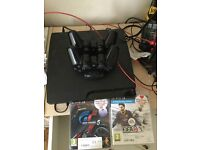 Ps3 with 2 controllers and all cable