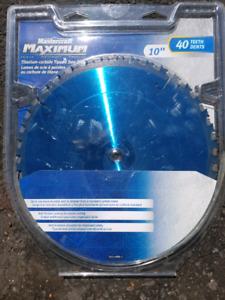 10 inch saw blade -titanium carbide 40 teeth