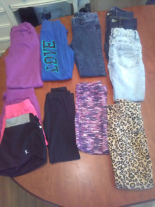 Small lot Girl's size 7/8 pants and shorts