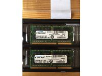 Crucial MacBook Pro Ram - 2 x 2GB - 4GB Kit - 1067MHz - 204 Pin - DDR3
